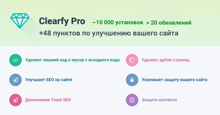 Плагин «Clearfy Pro»